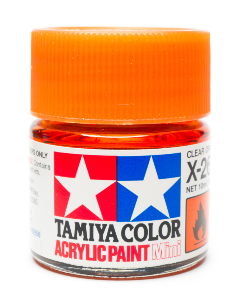 Tamiya clear orange paint jar