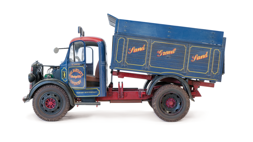 Weathered Bedford tipper truck