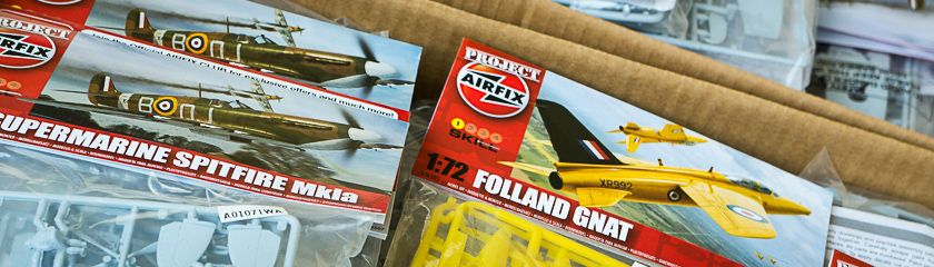 Boxes of Project Airfix kits