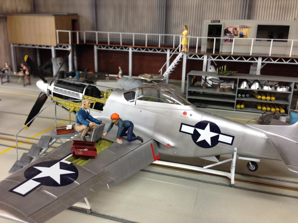 Huge P-51 Mustang diorama takes 600km road trip to Scale Models Expo