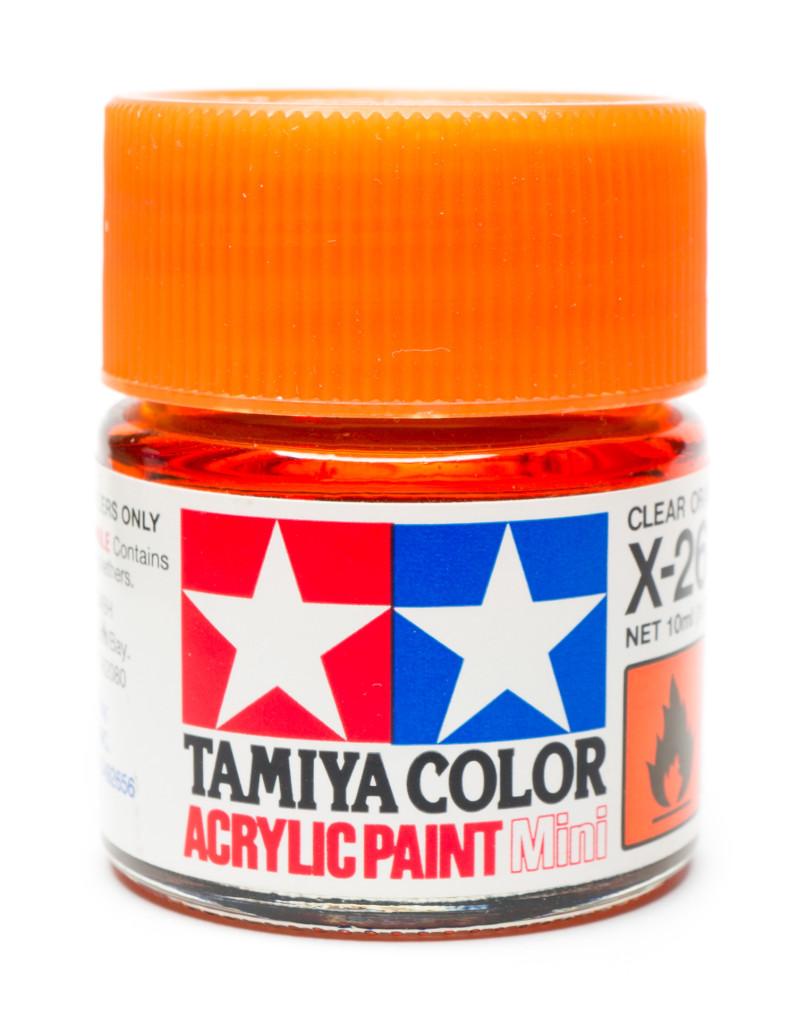 Tamiya clear orange paint jar